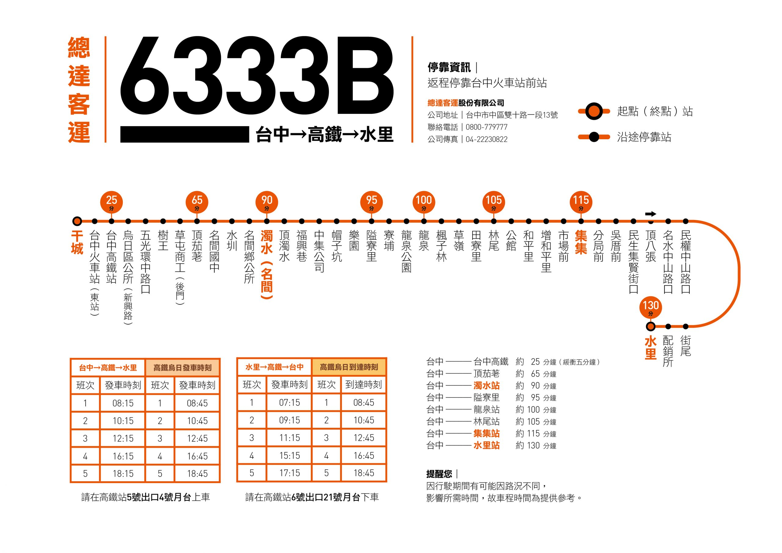 6333B路線圖